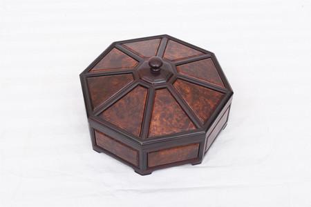 嵌瘿木果盒