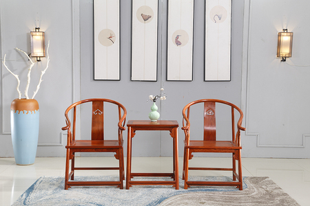 976明式独板素圈椅